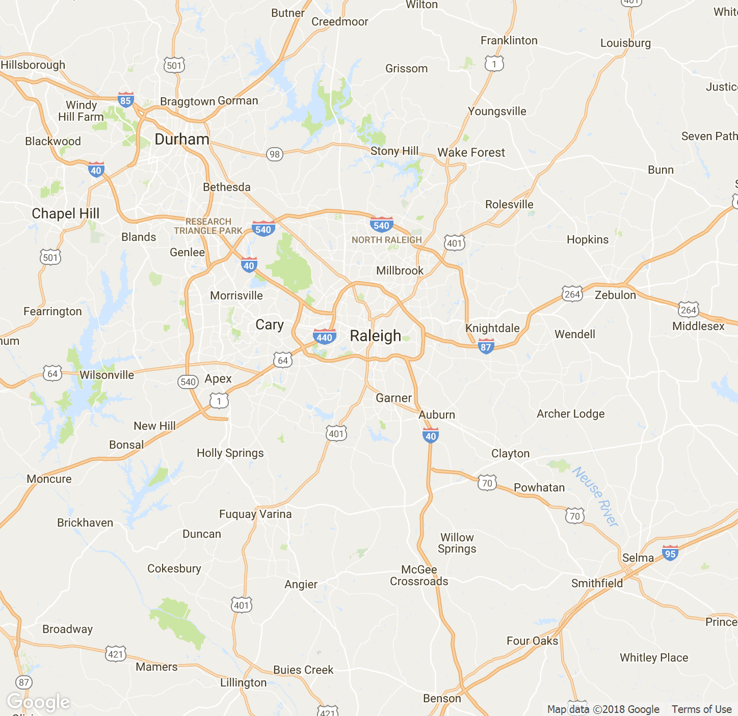 raleigh-nc-map - Blip Billboards